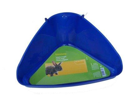 Toaleta Kuweta dla Królika Świnki cm 35x22x22 h16 niebieska